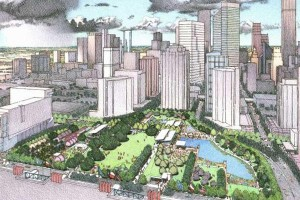 Discovery Green Aerial Rendering